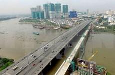 HCM City's metro route No. 1 bridge sections joined