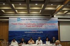 India workshop seeks legal solution to East Sea imbroglio