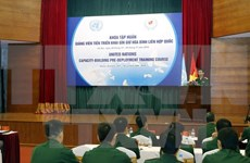 Vietnamese peacekeeping lecturers receive training