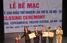 Outstanding plays honoured at Int'l Experimental Theatre Festival