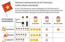 Vietnam's achievements at int'l chemistry, maths, physics olympiads