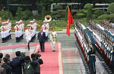Welcome ceremony held for Myanmar State Counsellor