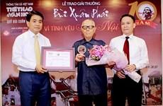 Bui Xuan Phai awards honour lovers of capital city