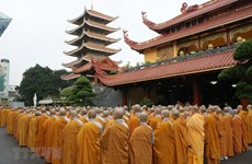 Vietnam Buddhist Sangha in HCM City pays tribute to President Quang