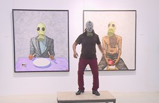 Paintings speak pollution effects on human