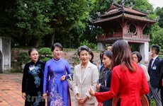 Japanese First Lady visits top cultural relic