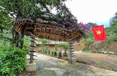 Unique gates in Sin Suoi Ho - village of Mong ethnic people