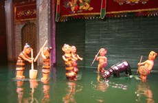 Water puppetry wows audiences