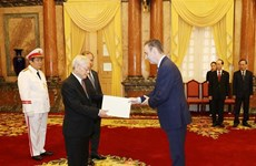 Party, State leader receives newly-accredited ambassadors