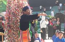 Thai ethnic rituals enacted at culture festival