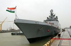 Indian naval ship INS Sahyadri visits Da Nang
