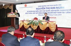 National assembly Chairwoman meets with Vietnamese expats in Russia