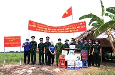 Soldiers at Vietnam-Cambodia border contribute to COVID-19 prevention