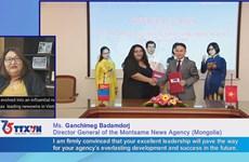 Mongolia news agency congratules VNA on founding anniversary