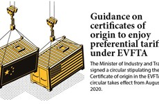 Guidance on certificates of origin to enjoy preferential tariffs under EVFTA