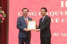 Politburo member assigned as Hanoi party leader