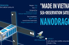 """Made in Vietnam"" sea-observation satellite Nanodragon"