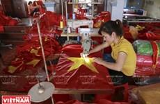 Flag-making village in Hanoi