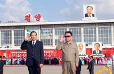 Photos of Party General Secretary Nong Duc Manh's DPRK visit in 2007