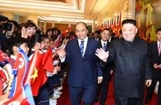PM hosts reception for DPRK leader
