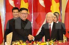 Vietnamese leader hosts banquet in honour of DPRK Chairman