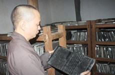 Seeing the oldest Buddhist sutra woodblocks in the world