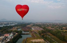 Hot air balloon festival attracts attention in Vietnam