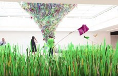 Plastic waste exhibition raises awareness of environment