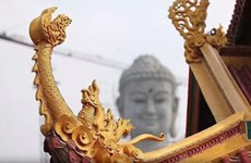 A Close up of the Largest Buddha Statue in Southeast Asia