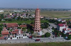 Tien Huong - The pagoda with the highest Buddhist tower in Vietnam