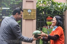 The Kuwait's Embassy gave out free watermelons to help Vietnamese farmers