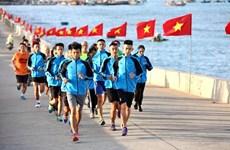 Enjoy the beautiful marathon road on Ly Son island