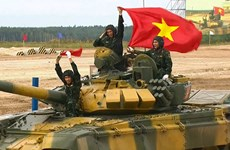 Vietnam team competes impressively in Army Games 2020