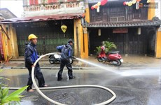 Cleaning process begins in Hoi An after Typhoon Molave