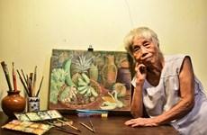 Octogenarian Vietnamese artist gets first solo exhibition