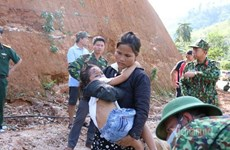 Feeling the extreme pain from the severe landslide in Trà Leng commune