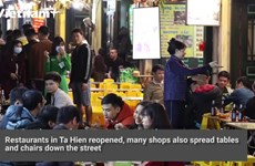 Bars in 'Western Street' Ta Hien reopen after being closed due to the epidemic