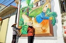 Dazzling mural painting village in Hanoi
