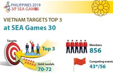 Vietnam targets top 3 at 30th SEA Games