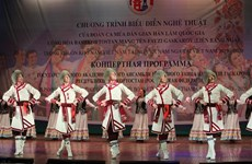 Russian folk dance ensemble perform in Hanoi