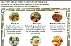 Must -try dishes when visiting Thua Thien-Hue