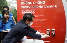 First public hand washing booth opens
