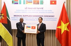 Vietnam presents medical supplies to African nations