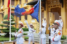 Flag raising ceremony celebrates ASEAN's 53rd founding anniversary