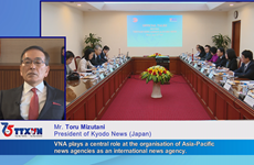 Congratulations from Kyodo News on Vietnam News Agency's founding day