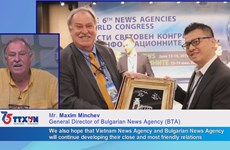 Congratulations from Bulgarian news agency on VNA's 75 years