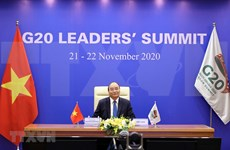 Prime Minister Nguyen Xuan Phuc attends online G20 Summit