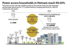 Power access households in Vietnam reach 99.54%