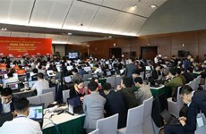 Hundreds of reporters cover 13th National Party Congress' opening ceremony