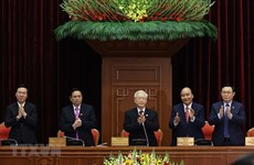 Nguyen Phu Trong re-elected to be Party General Secretary